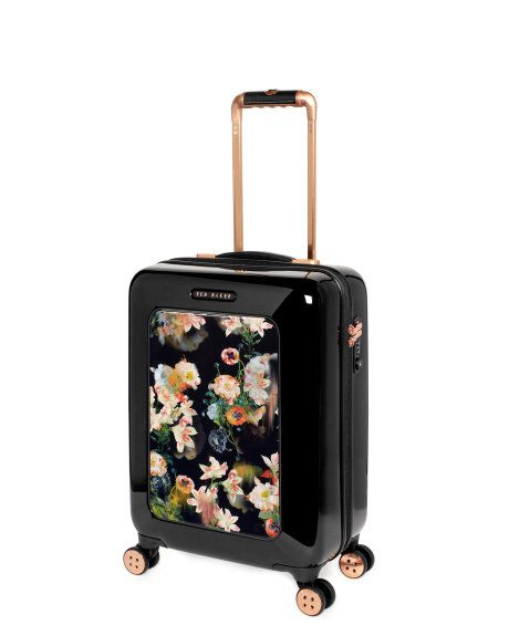 Small opulent bloom suitcase - Black | Bags | Ted Baker