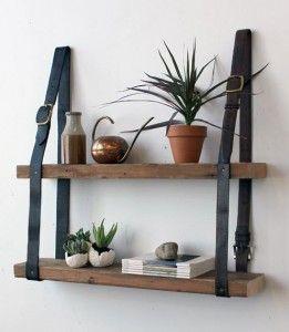 DIY: une étagère mariant cuir et bois