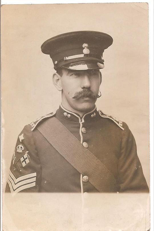 A Colour Sergeant from the 1st Volunteer Battalion RWF c. 1908.