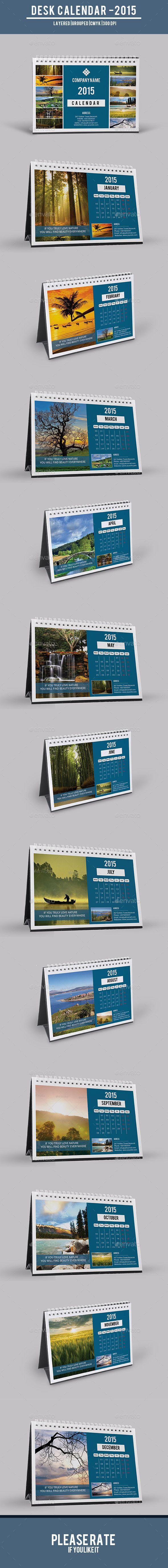 Desk Calendar Template | Buy and Download: http://graphicriver.net/item/desk-calendarv06/9571377?ref=ksioks