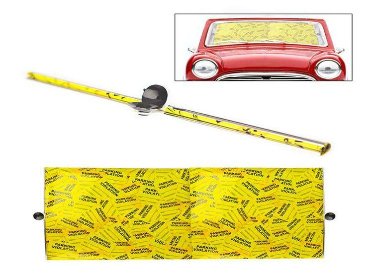 Parasol coche Parking Ticket amarillo130x50 - de BALVI Articulo 25366 - http://regalosoutletonline.com/regalos-originales/balvi/parasol-coche-parking-ticket-amarillo130x50-de-balvi-articulo-25366