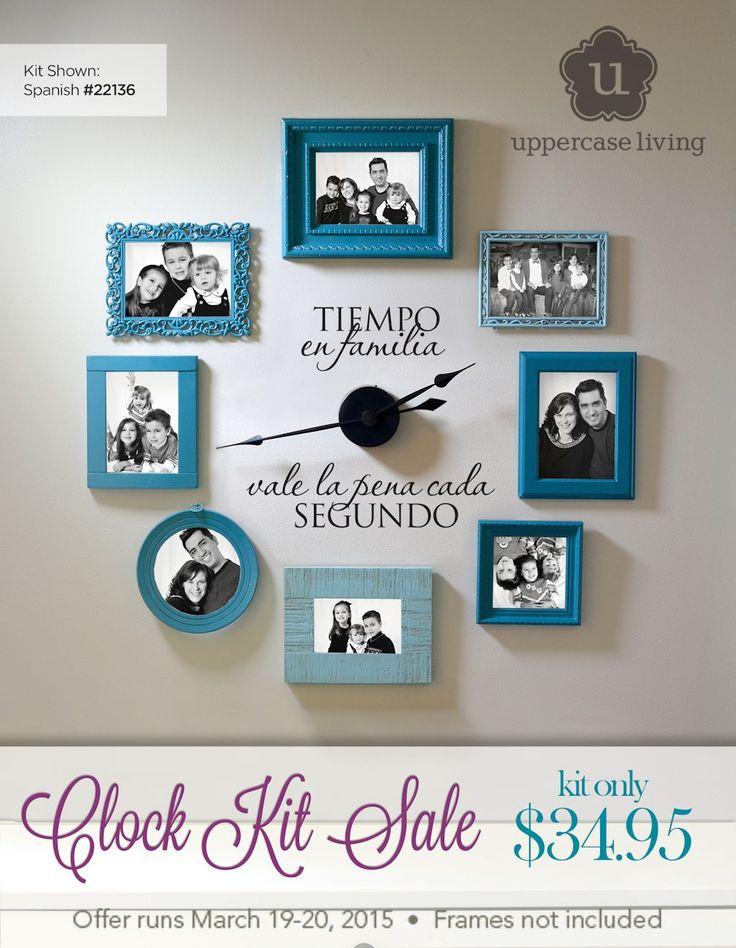 Tiempo en familia vale la pena cada segundo venta reloj   Time Spent With Family Clock Kit Two Day Sale