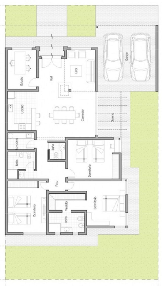 17 best images about arquitectura planos on pinterest for Casas en ele planos