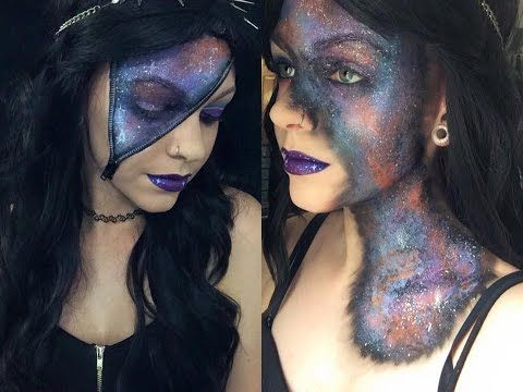 Zipper Galaxy Makeup Tutorial - YouTube