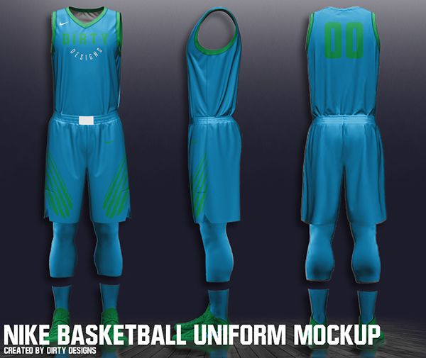 Download Free Nike Nba Basketball Uniform Mockup On Behance Basketball Uniforms Nba Uniforms Nba Basketball