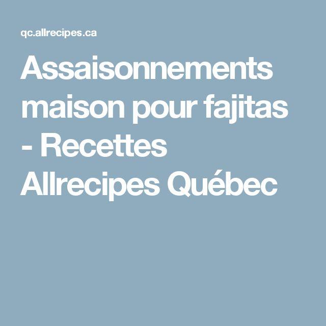 Assaisonnements maison pour fajitas - Recettes Allrecipes Québec