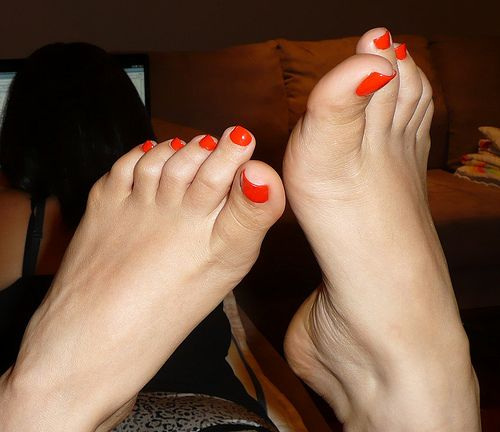 sexy-feet-beautiful-painted-toes: Orange Toe, Sexy Feet, Inkblot Sexyfeet, Sexy When, Colors Toe, Essencehappi Feet, Paintings Toe, Save As, Fav Feet