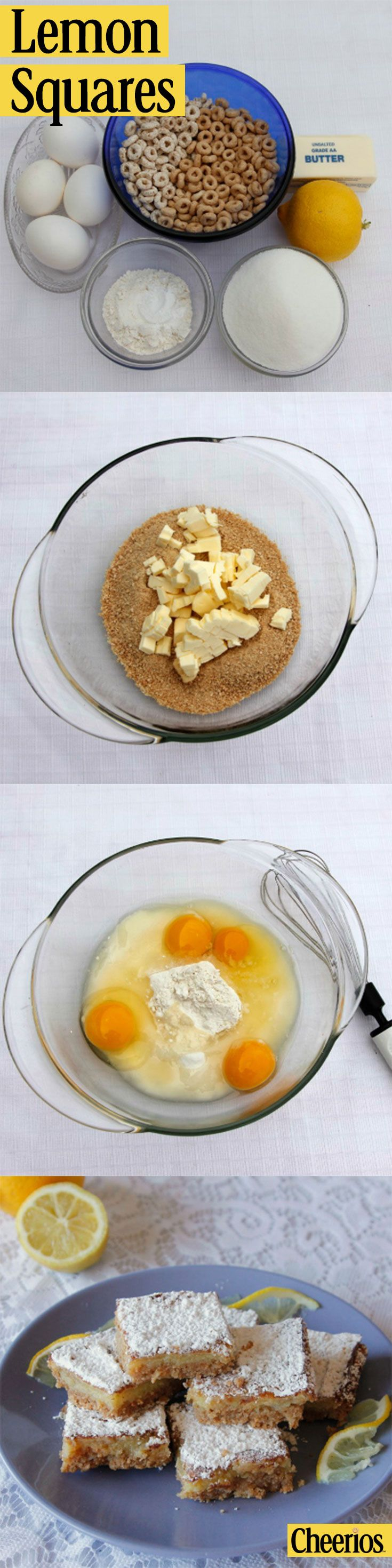 Spring is almost here! Try this super simple and zesty recipe for Lemon Squares With Cheerios.