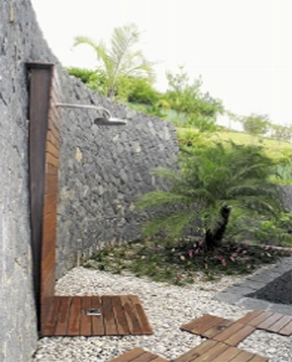 Outdoor shower with drain | Outdoor shower | Pinterest ...
