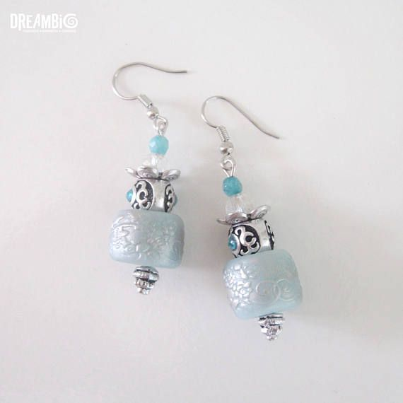 Check out this item in my Etsy shop https://www.etsy.com/listing/526565748/aqua-handmade-polymer-clay-earrings