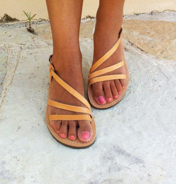 Cuir Sandales femme sandales sandales grecques par GrecianSandals