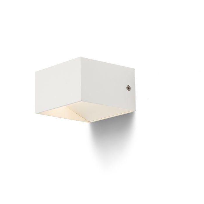 DIDO - Hranaté biele lakované hliníkové svietidlo osadené výkonnou LED diódou, na svietenie UP / DOWN.