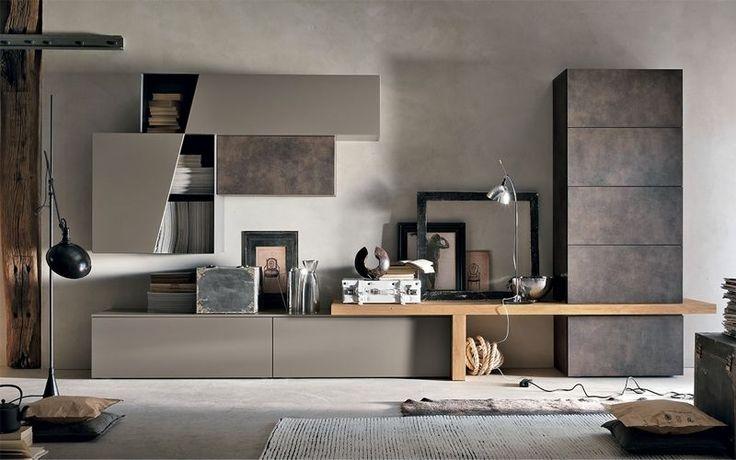 Pareti divisorie, progettazione uffici e spazi di lavoro,. Gruppo Tomasella 2016 Google Ɛœç´¢ Home Living Room House Interior Living Room Wall Units