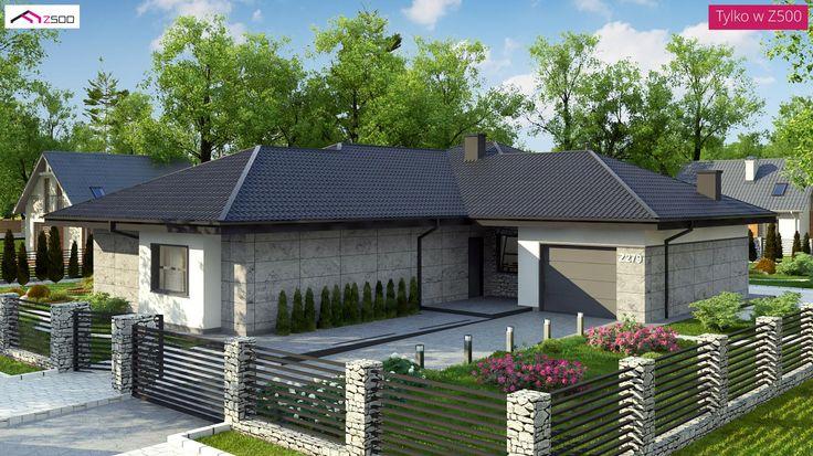 Z279 to wyjątkowy dom z kategorii projekty domów z garażem jednostanowiskowym