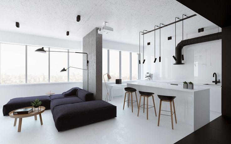 Hailing from Kiev is an outstanding exercise of practicality and visual lightness from architect Emil Dervish. Making the most out of 64sqm for his cl...