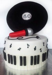 Torte aziendali - vinyl cake Torta disco vinile
