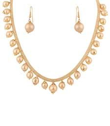 Buy White Colour Alliy Pearl Set necklace-set online