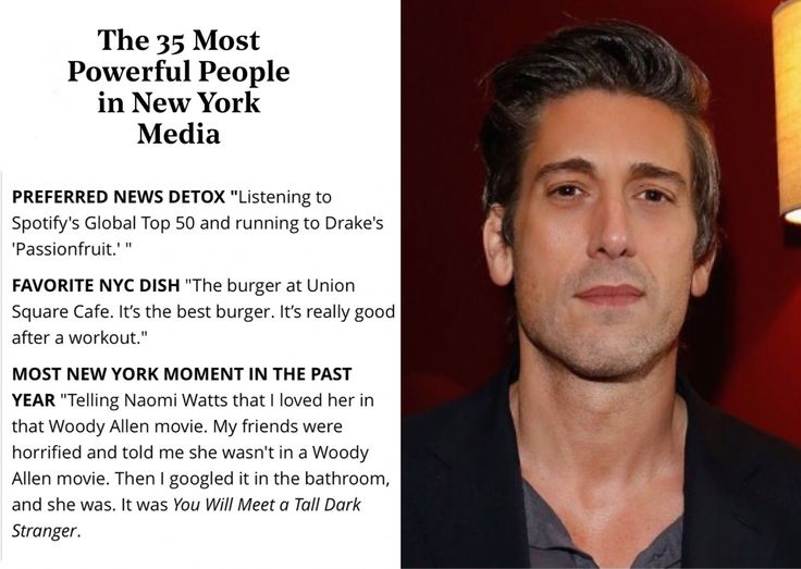 David Muir is one of THR's 35 Most Powerful People in Media!