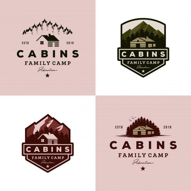 Vintage Cabins Logo Collection In 2020 Logo Design Inspiration Vintage Vintage Logo Design Logo Collection
