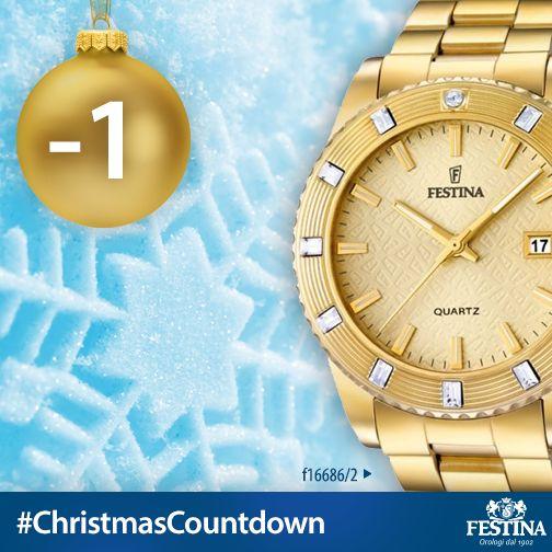 Buona Vigilia! -1 a Natale! Condividete con i vostri amici il #ChristmasCountdown di Festina, se anche voi non vedete l'ora che sia Natale.