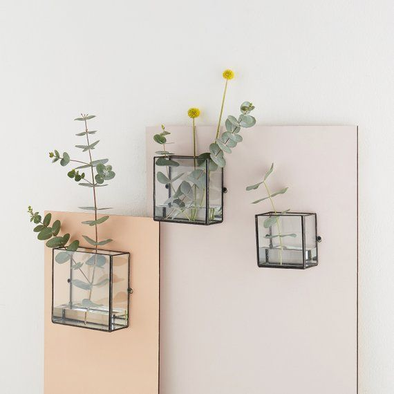 Pappus Square Box Wall Mount Etsy In 2020 Wall Mounted Vase Wall Display Wall