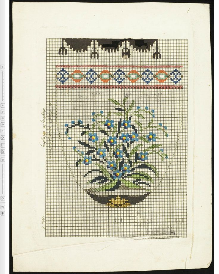 Purse with forget-me-nots