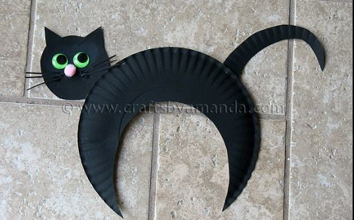 black cat paper craft black cat craft teaching 3458