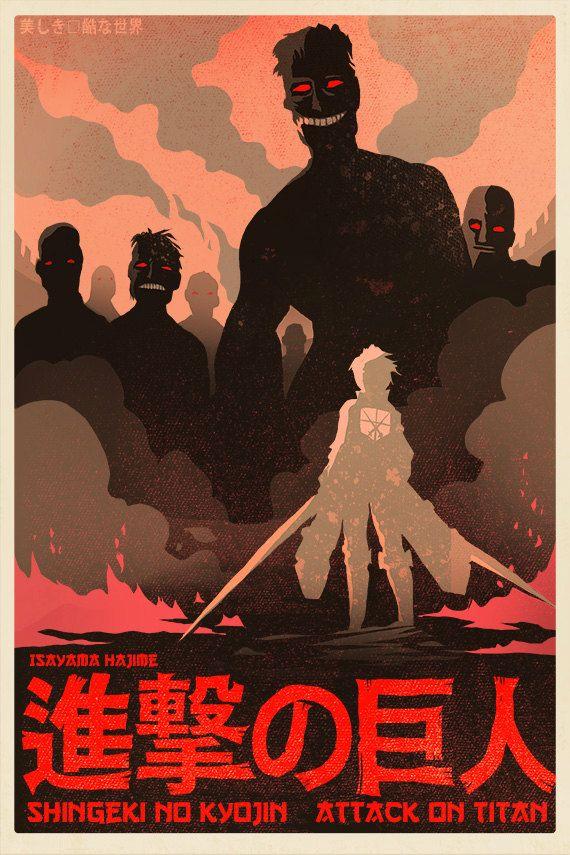 ATTACK ON TITAN Poster Video Game Poster Wall Art Anime Manga Art