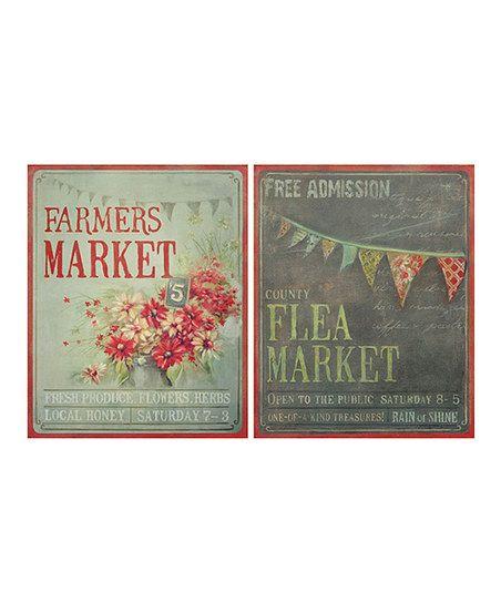 Just love these. So glad it is almost Farmers Market season!! :: 'Farmers Market' & 'Flea Market' Canvas Set