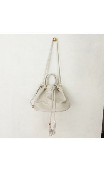 Tassel Drawstring Bucket Handbag