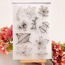 1 pçs/lote DIY árvore do projeto da folha transparente claro selo carimbo de borracha de artesanato de papel Scrapbooking decoração(China (Mainland))