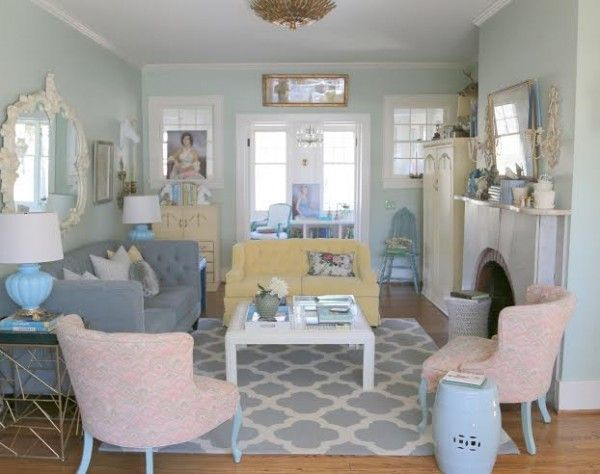 The Antidote To The Sofa Loveseat Combination   The Decorologist · Pastel Living  RoomDesigner ...