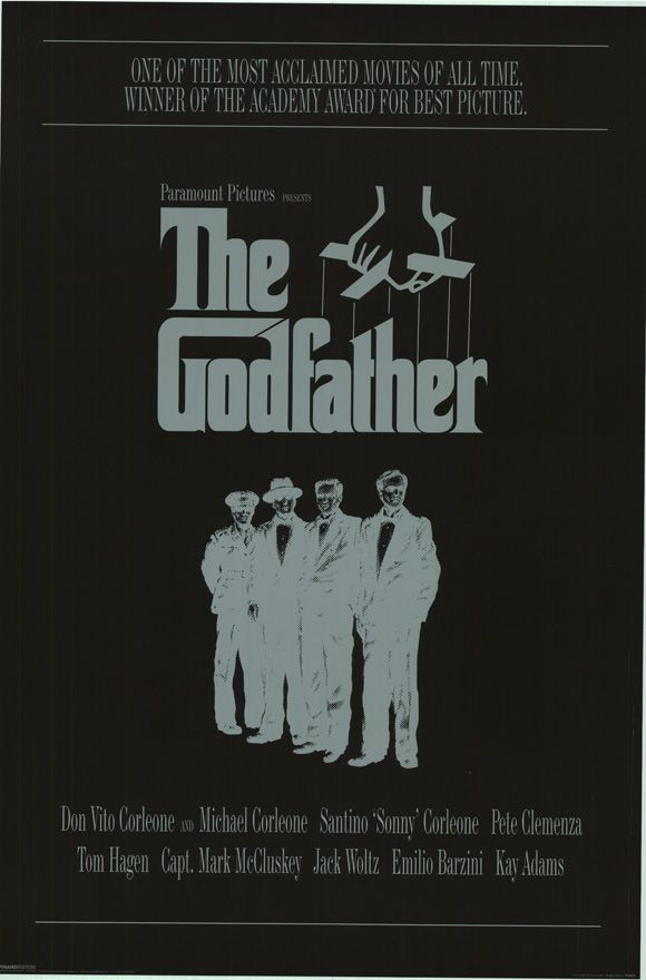 The Godfather: Vintage Posters, Movie Posters, The Godfather Posters, Picture-Black Posters, Godfather 1972, Vintage Wardrobe, Film Posters, Favorite Movie, Vintage Film