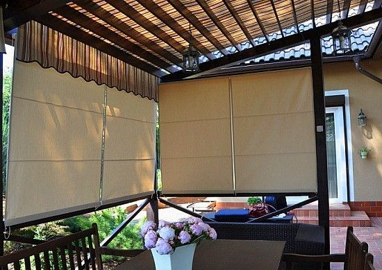 Kültéri, kerti terasz pergola függöny, árnyékolás  – ötletek a szabadban 2016