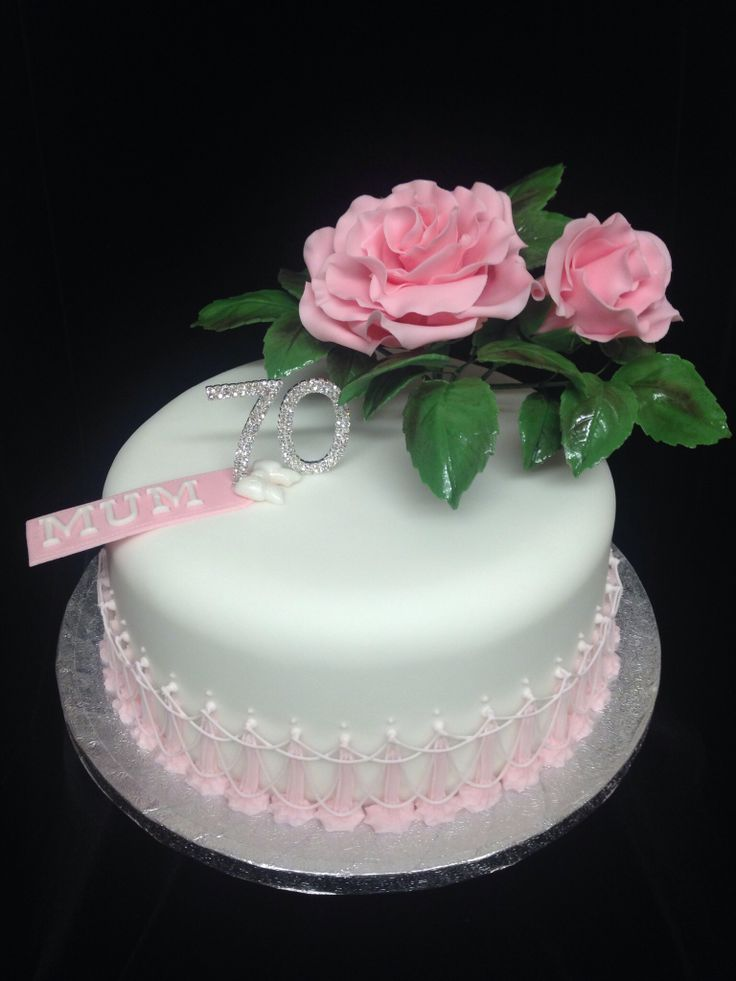 Best Cakes Th Birthday Images On Pinterest Th Birthday - Birthday cakes 70th ladies