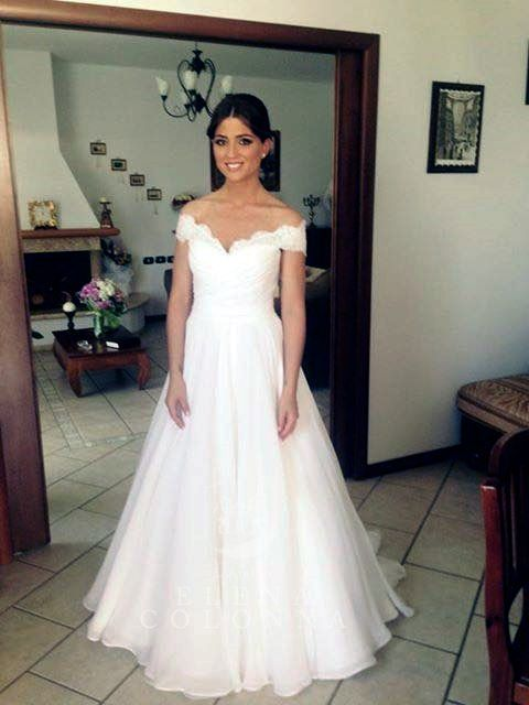 Matrimonio in stile country chic e abito da sposa romantico di L'Atelier Elena Colonna per la dolcissima Mina.
