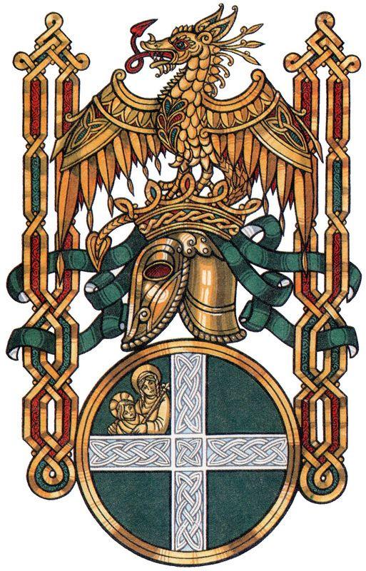Художественный герб Короля Артура в кельтском стиле