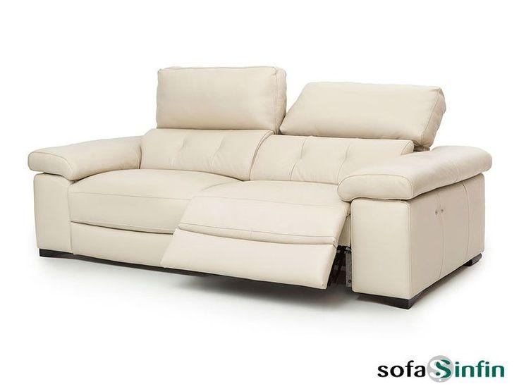 Sofá relax de 3 + 2 plazas y chaise-longue modelo Paul fabricado por Losbu en Sofassinfin.es