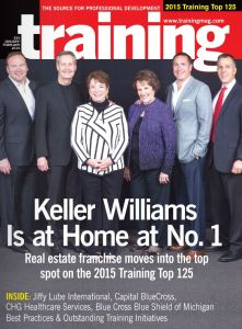 On the same day that Keller Williams announced it was the largest real estate franchise by agent count in the world, Training Magazine named the company the world's #1 training organization across all industries. At a Feb. 9 awards ceremony in Atlanta to honor the Training 125, Keller Williams was recognized for the growth, productivity and profitability gains resulting from its world-class education and training programs.
