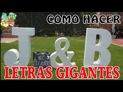 Cómo hacer letras en 3D Gigantes / DIY / Arte con Diego - YouTube