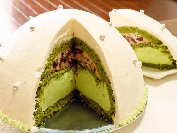 ドームケーキ抹茶ムース入り by レアレアチーズ [クックパッド] 簡単おいしいみんなのレシピが216万品