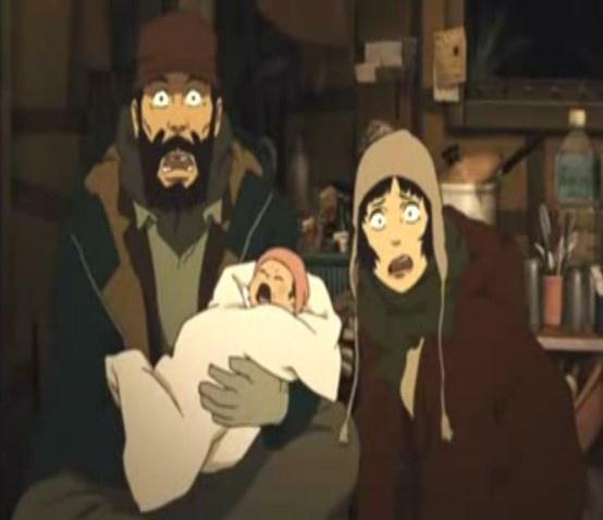 Tokyo Godfathers pelicula anime  http://tu.tv/videos/tokyo-godfathers-pelicula-anime-completa_1