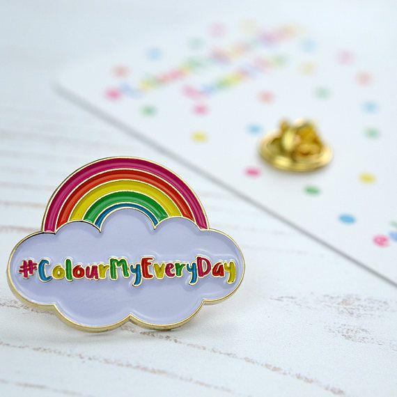 PRE ORDER ColourMyEveryDay Pin  soft enamel pin  gift for
