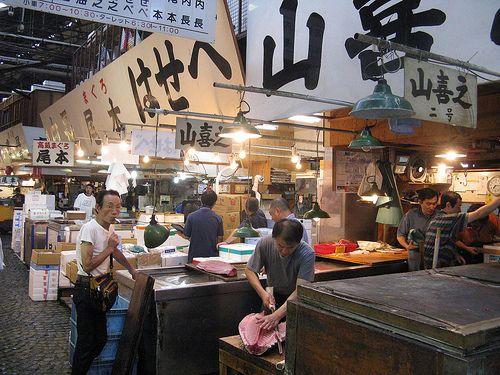 Sushi breakfast at Tsukiji Fish Market Japan