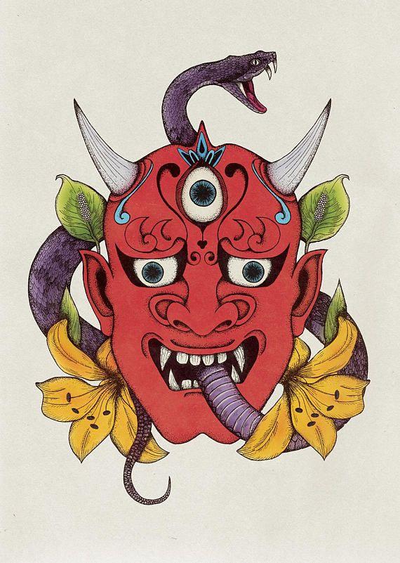 best 25 japanese demon tattoo ideas on pinterest oni