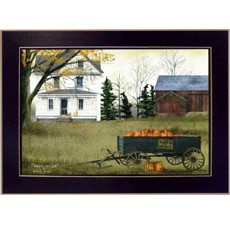 Pumpkins For Sale by Billy Jacobs Framed Painting Print