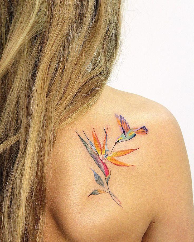 Hummingbird | Strelitzia☀️ #tattoo #tatt #tattoos #tattooart #tattooing