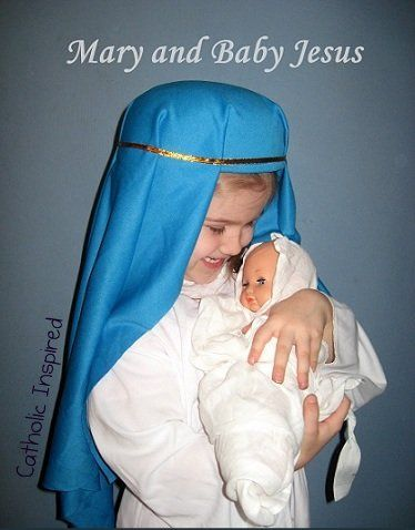 Mary and Baby Jesus Costume for All Saints' Day