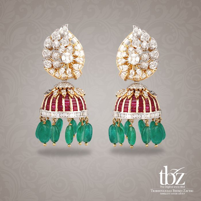 Rewind back to the magnificent Mughal era in these vibrant Jhumkas.