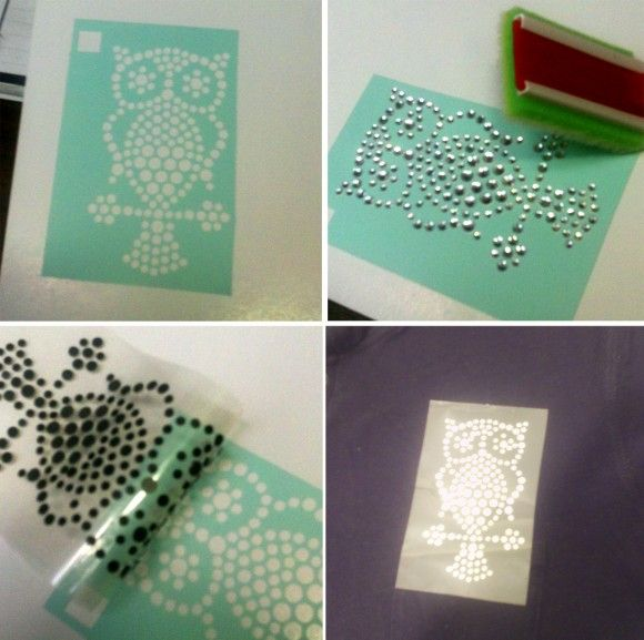 How to DIY Rhinestones (with a Silhouette)